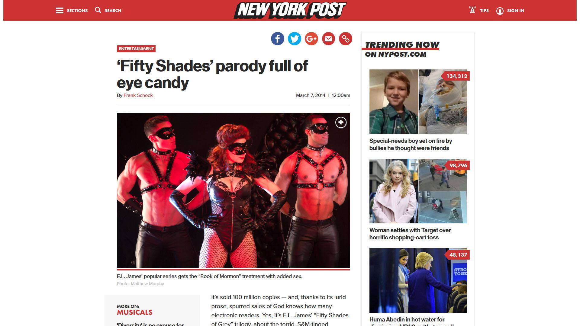 'Fifty Shades' parody full of eye candy