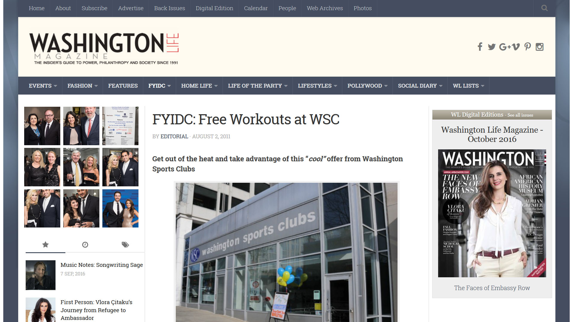 FYIDC: Free Workouts at WSC